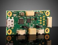 Corning® Varioptic® Variable Focus Liquid Lens Driver Board with Maxim MAX14574 Driver and USB Input