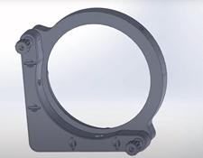 #15-869, 100.0/101.6mm Optic Dia., E-Series Kinematic Mount